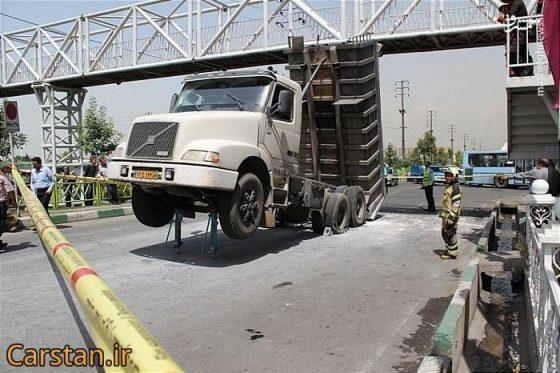 تصاویر دیدنی عکس جالب تصادف کامیون اخبار تهران تصادف وحشتناک